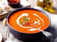 Рецепта Доматена крем супа с печени червени чушки